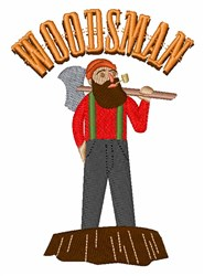 Woodsman embroidery design