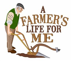 Farmers Life embroidery design