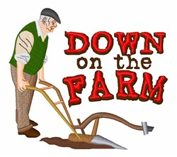 Down On Farm embroidery design