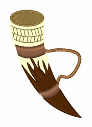 Viking Horn embroidery design