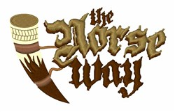 The Norse Way embroidery design