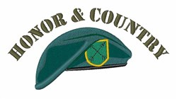 Honor & Country embroidery design
