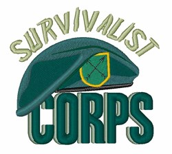Survivalist Corps embroidery design