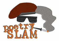 Poetry Slam embroidery design
