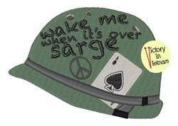 Its Over Sarge embroidery design