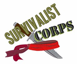 Survivalist Corps embroidery design