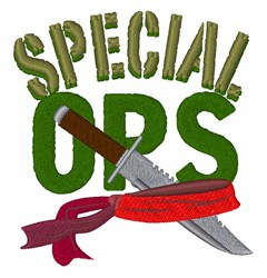 Special Ops embroidery design