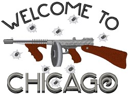 Welcome To Chicago embroidery design