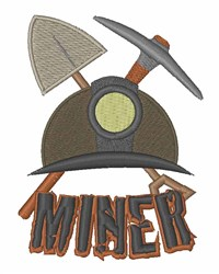 Miner Equipment embroidery design