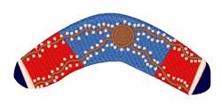 Australian Boomerang embroidery design