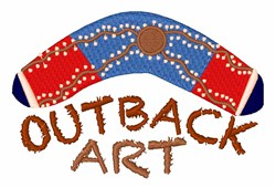 Outback Art embroidery design