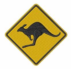 Kangaroo Sign embroidery design