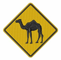 Camel Sign embroidery design