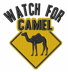 Watch For Camel embroidery design