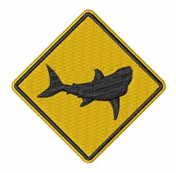 Shark Sign embroidery design