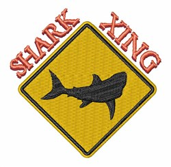 Shark Xing embroidery design