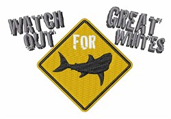 Watch Great Whites embroidery design