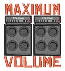 Maximum Volume embroidery design