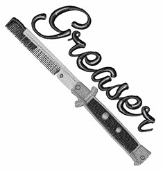 Greaser Comb embroidery design