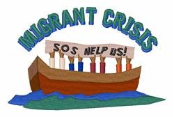 Migrant Crisis embroidery design