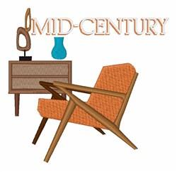 Mid-Century embroidery design