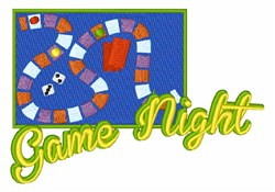 Game Night embroidery design