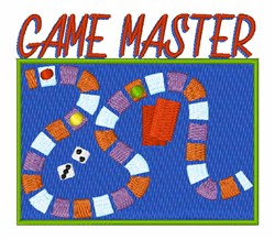 Game Master embroidery design