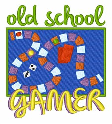 Old School Gamer embroidery design