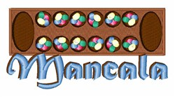 Mancala embroidery design