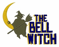 The Bell Witch embroidery design