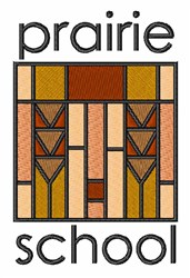 Prairie School embroidery design