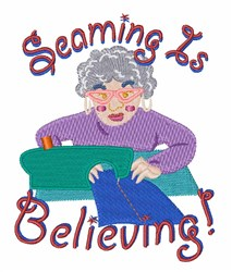 Seaming is Believing embroidery design