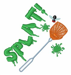 Fly Splat embroidery design