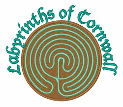 Labyrinths Of Cornwall embroidery design