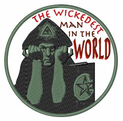 Wickedest Man embroidery design