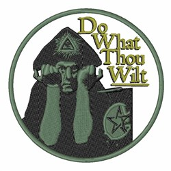 What Thou Wilt embroidery design