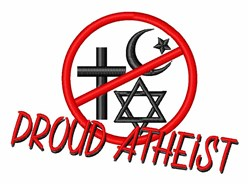 Proud Atheist embroidery design
