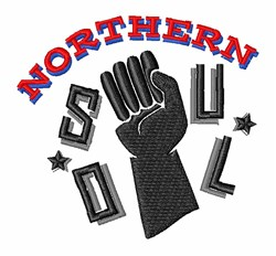 Northern Soul embroidery design