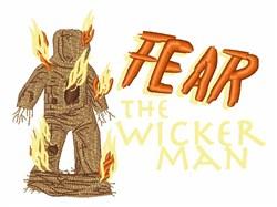 Fear Wicker Man embroidery design