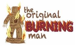 Burning Man embroidery design