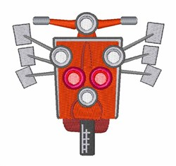Modified Scooter embroidery design