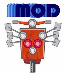 Mod Moped embroidery design