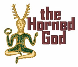 The Horned God embroidery design
