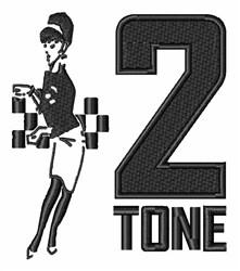 2 Tone embroidery design