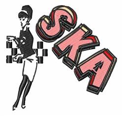SKA Dancer embroidery design
