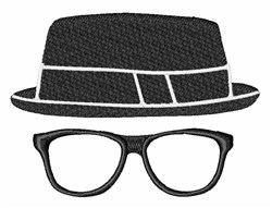Hipster Fedora embroidery design