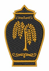 Funeral Urn embroidery design