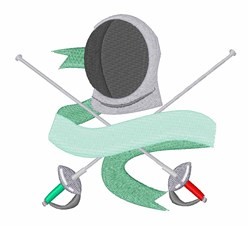 Fencing embroidery design