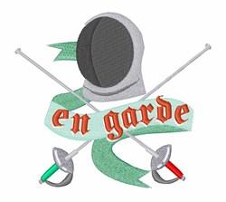 Fencing En Garde embroidery design