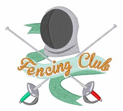 Fencing Club embroidery design